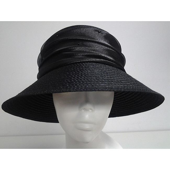 Swan Women's Black Organza Crushable Bucket Hat