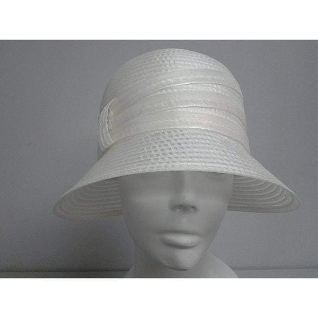 Swan Women's Ivory Organza Crushable Bucket Hat