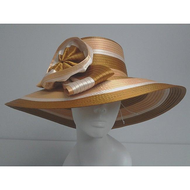 Swan Women's Gold/ Ivory/ Rust Floppy Church Hat