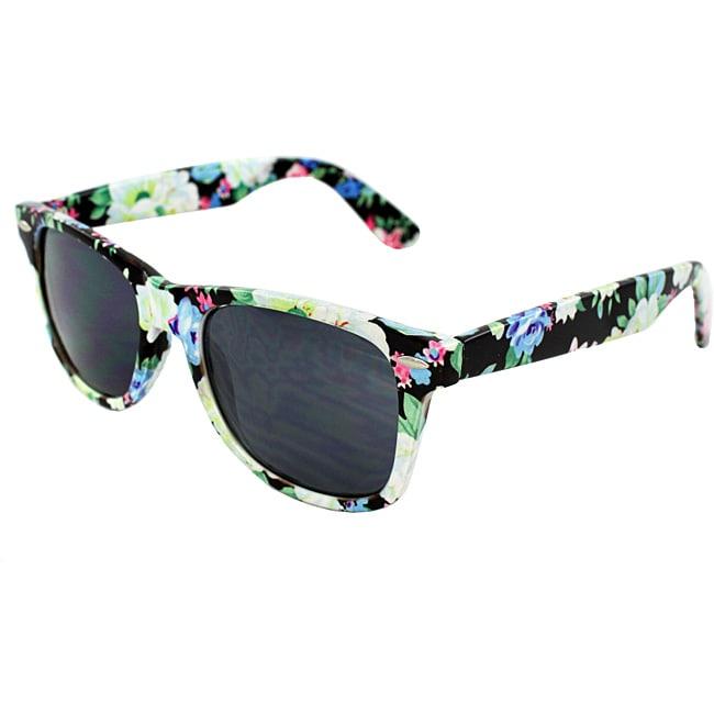 Women's Black Floral Sunglasses