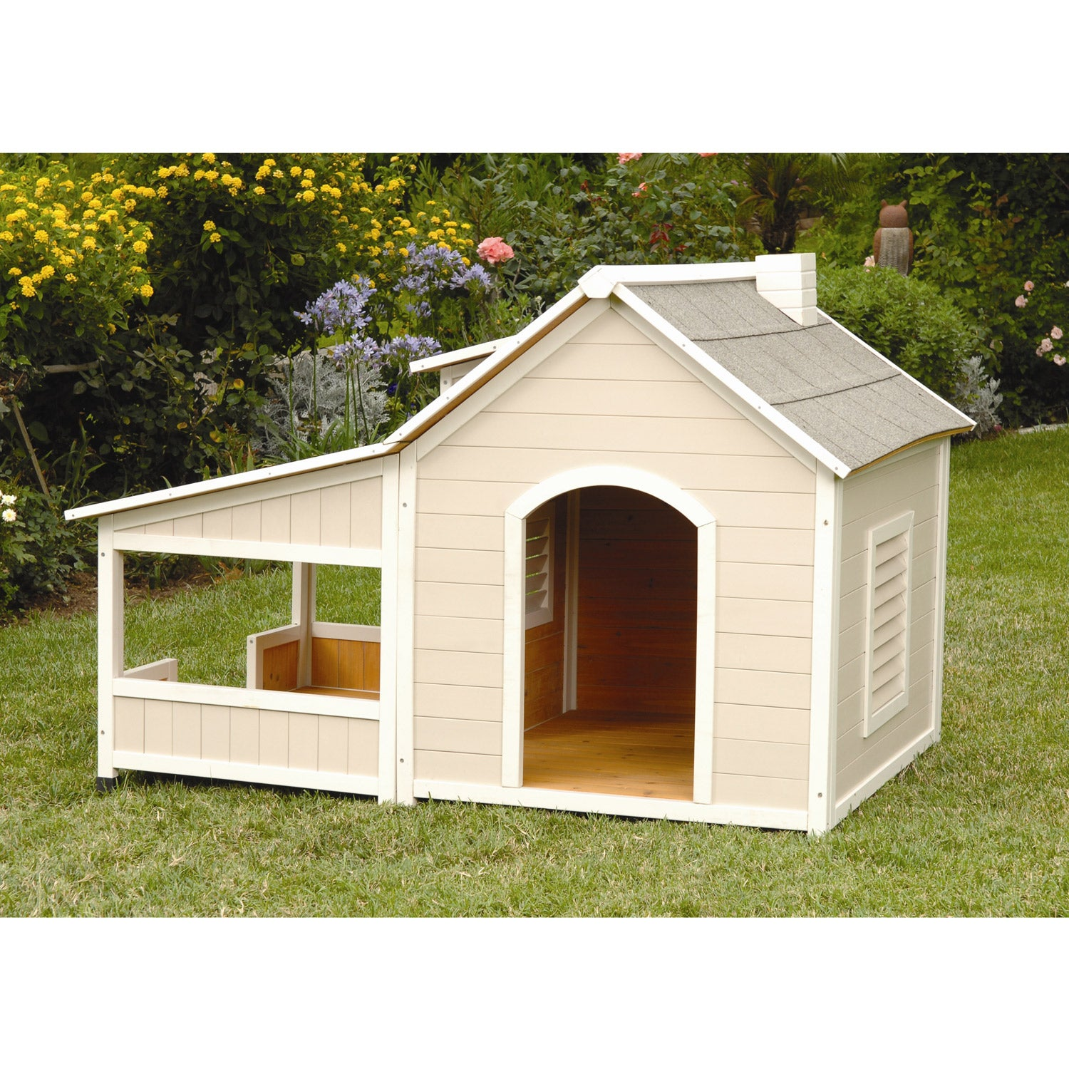 Shop Outback Savannah Luxury Dog Home With Porch Free