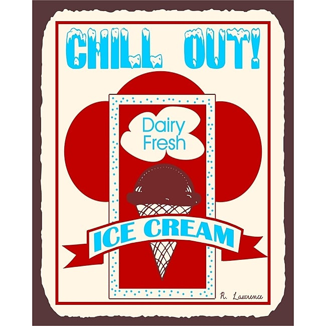 Vintage Metal Art 'Chill Out' Decorative Tin Kitchen Sign