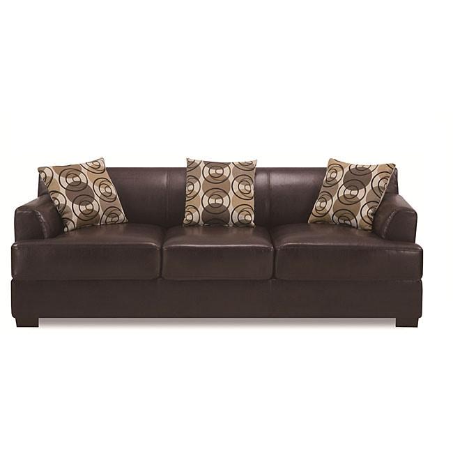 Dark Chocolate Bonded Leather Sofa