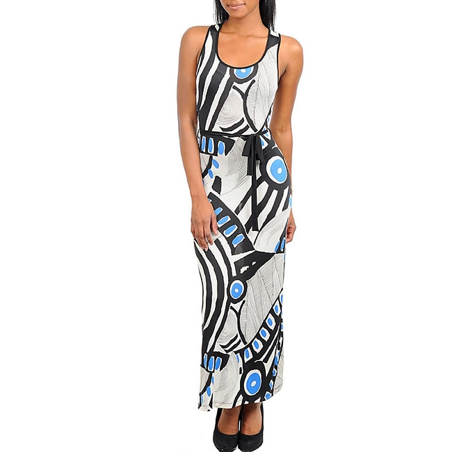 Stanzino Women's Abstract Print Tank Maxi Dress - Thumbnail 0