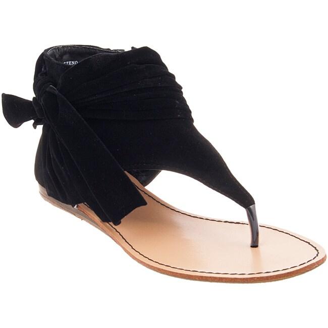Riverberry Women's 'Steno' Black Micro-suede Sandals