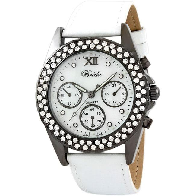 Breda Women's 'Victoria' Leather Watch