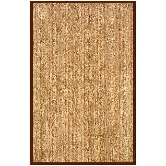 Natural Fiber Cocoa Rectangle Hemp Rug 9' x 12'