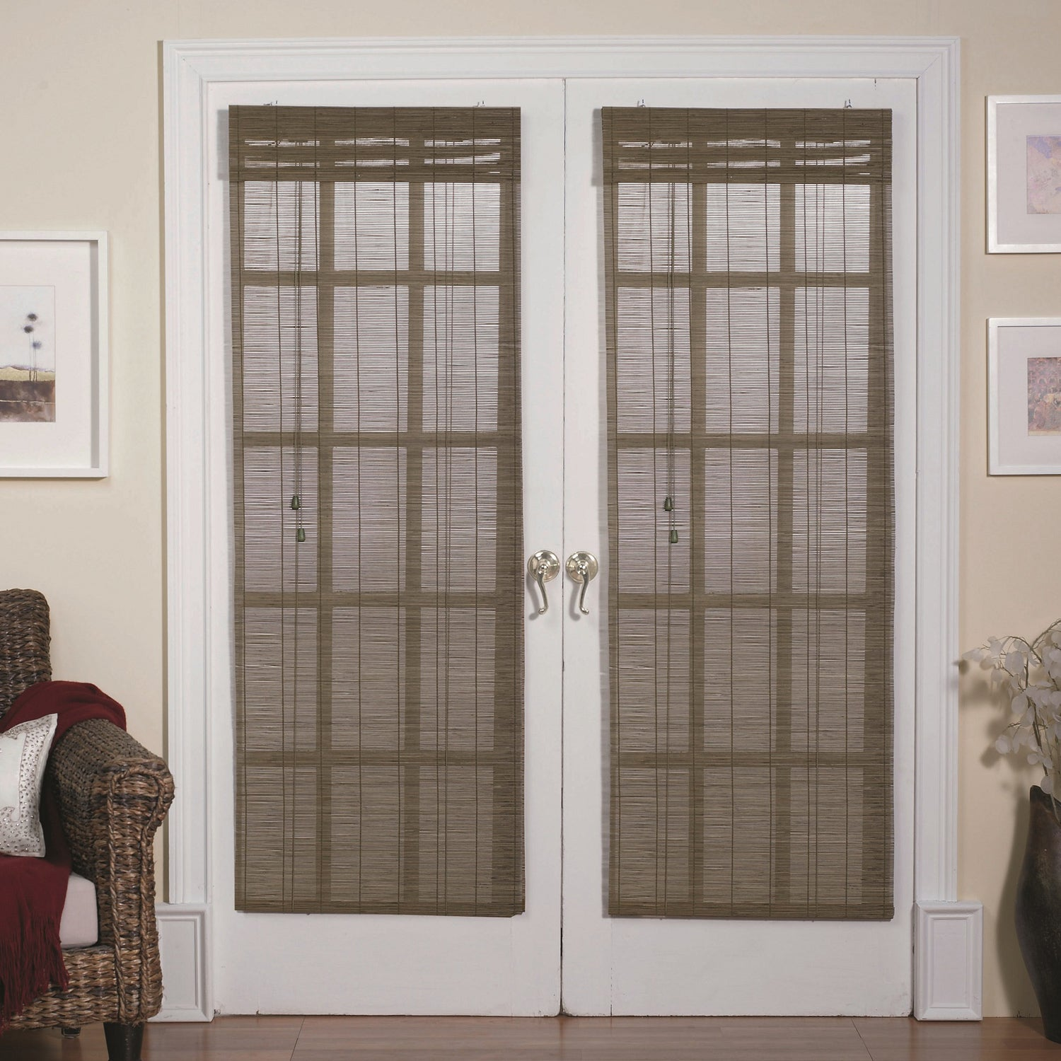 Radians French Door Bamboo Blind In Willow 24 X 72