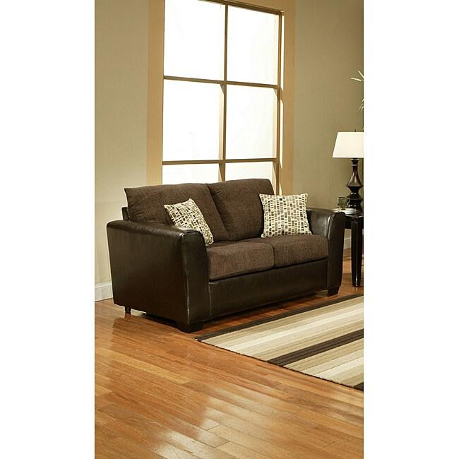 Furniture of America Porta Chenille Chocolate Loveseat