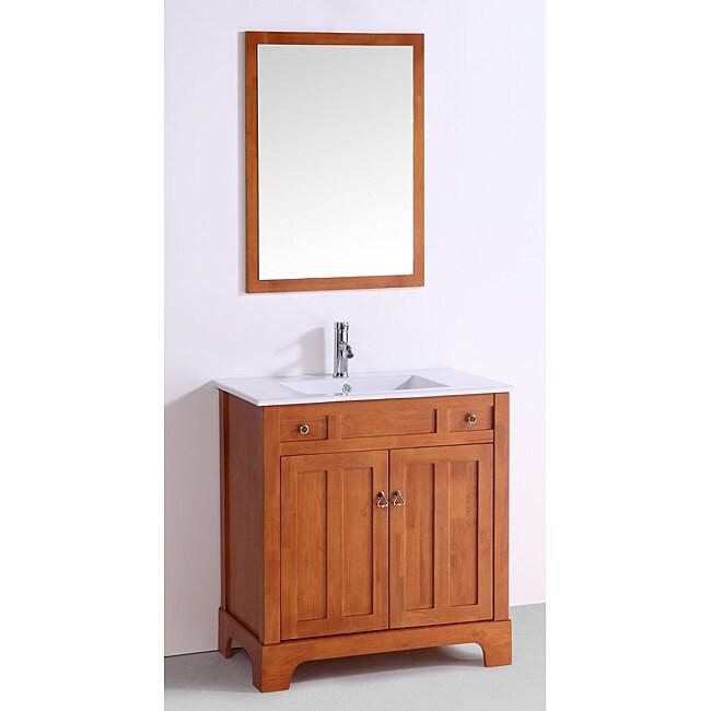 Ceramic Top 32-inch Single Sink Bathroom Vanity
