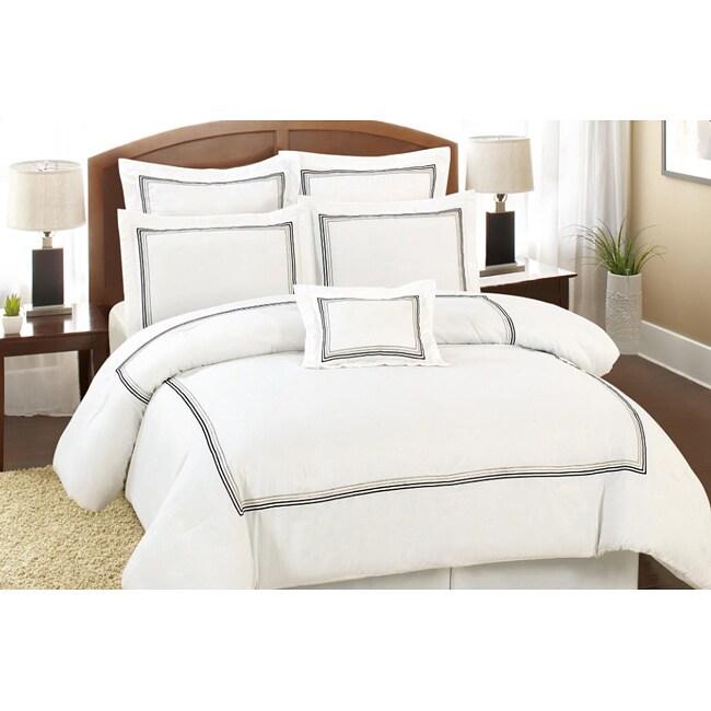 Del Rio 7-piece White Comforter Set