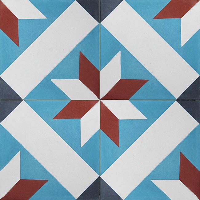 Granada Tile Echo Collection Toscano Cement Tiles (Case of 50)