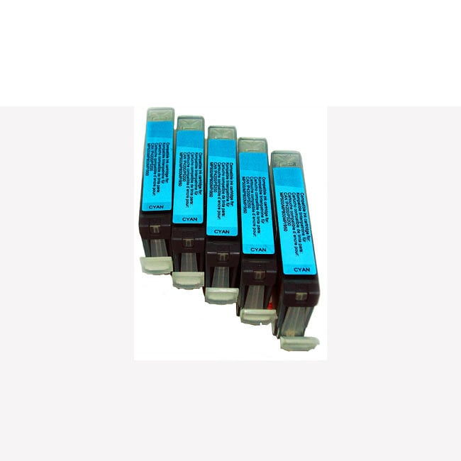 Canon CLI 8 Cyan Ink Cartridges (Pack of 5) (Remanufactured)