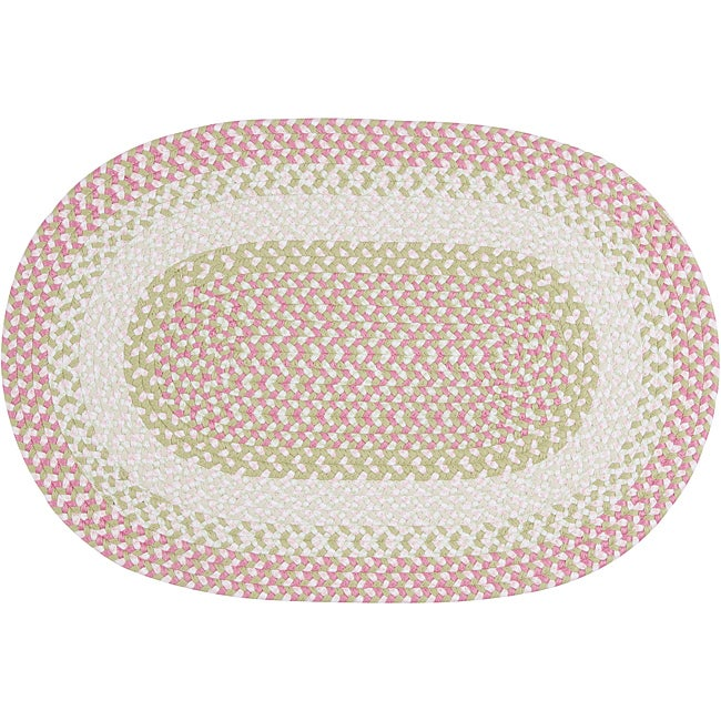 Pinwheel Pink Fabric Blended Accent Rug (5' x 8')