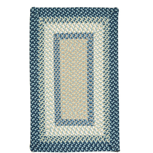 Color Market Blue Accent Rug (8' x 11')