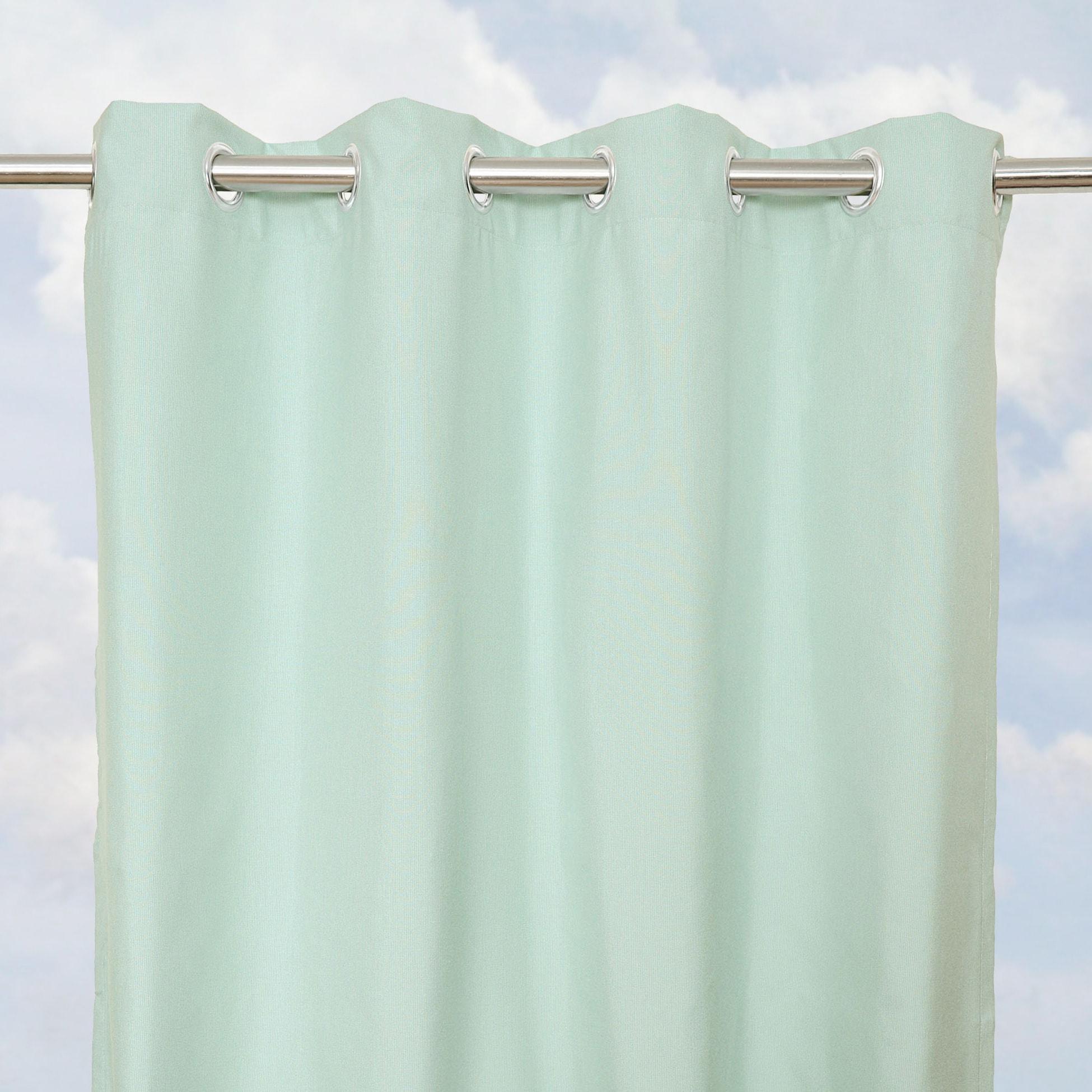 Sunbrella Bay View Mist 96-inch Outdoor Curtain Panel