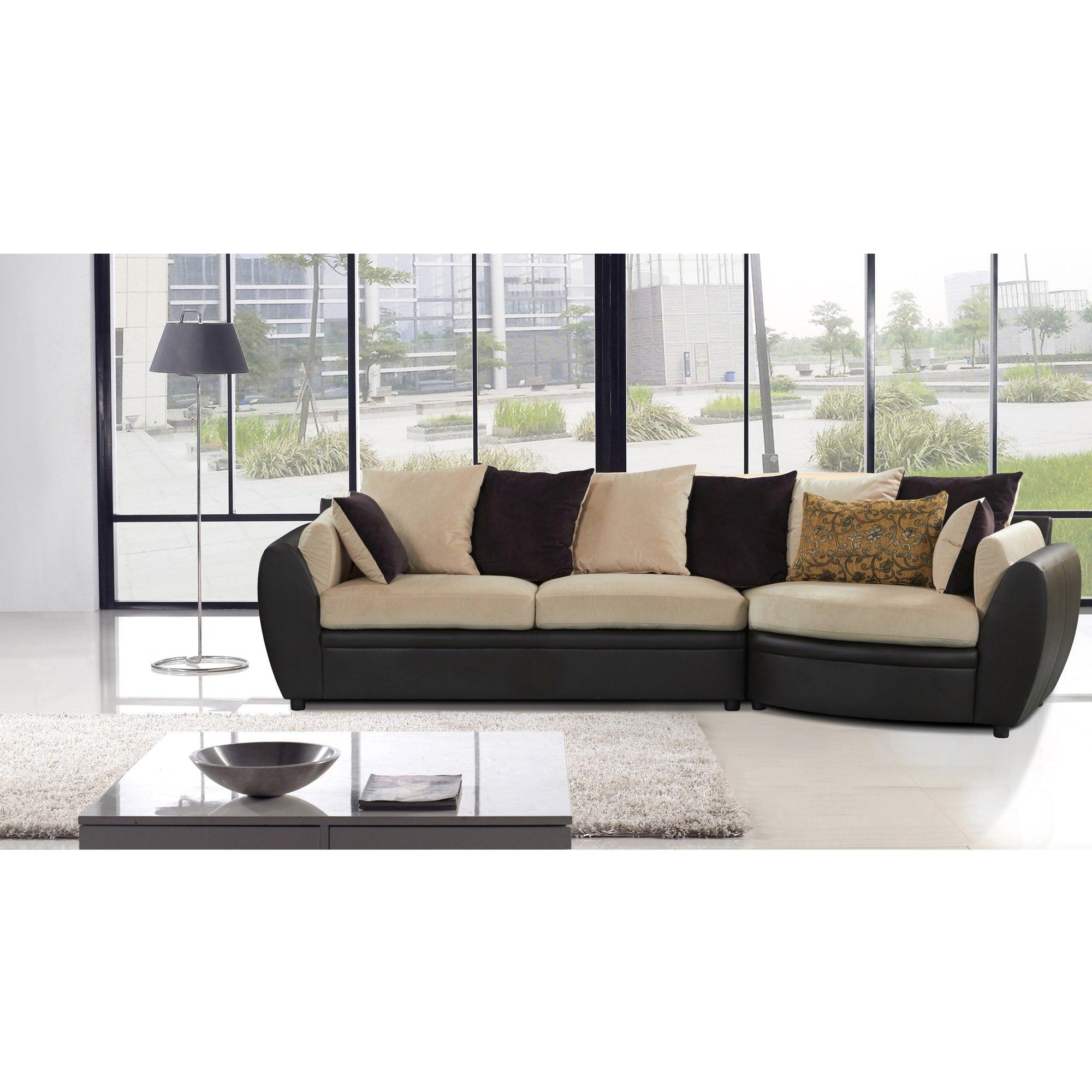 Loreta 2 pc Sectional Sofa Set Free Shipping Today Overstock