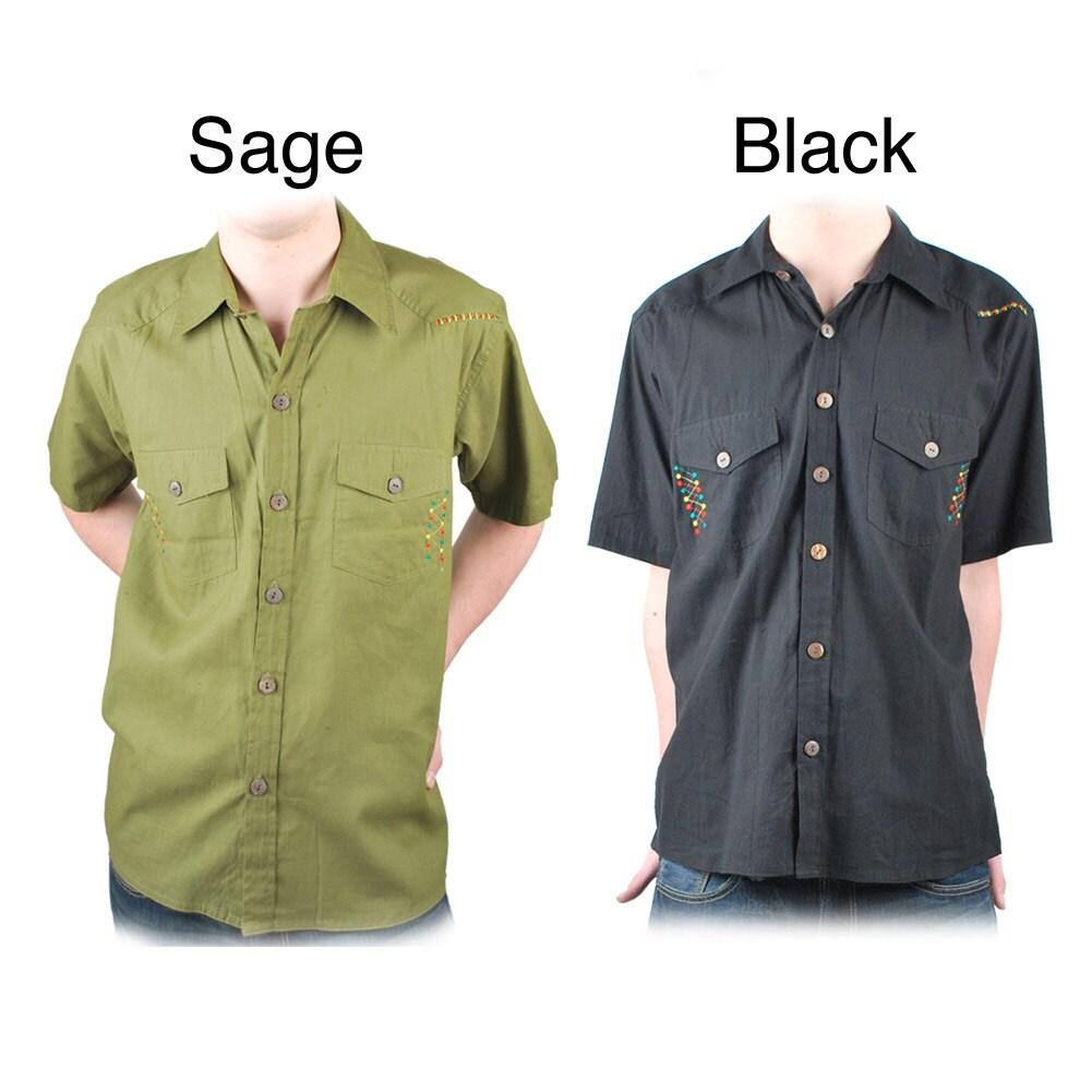 Dotted Rasta-Style Shirt (Nepal)