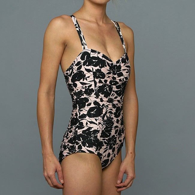 Jantzen Women's 'Center of Attention Maillot' 1-piece Sand Swimsuit
