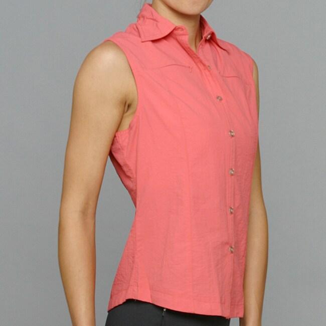 10,000 Feet Above Sea Level Women's Coral Outdoor Sleeveless Shirt