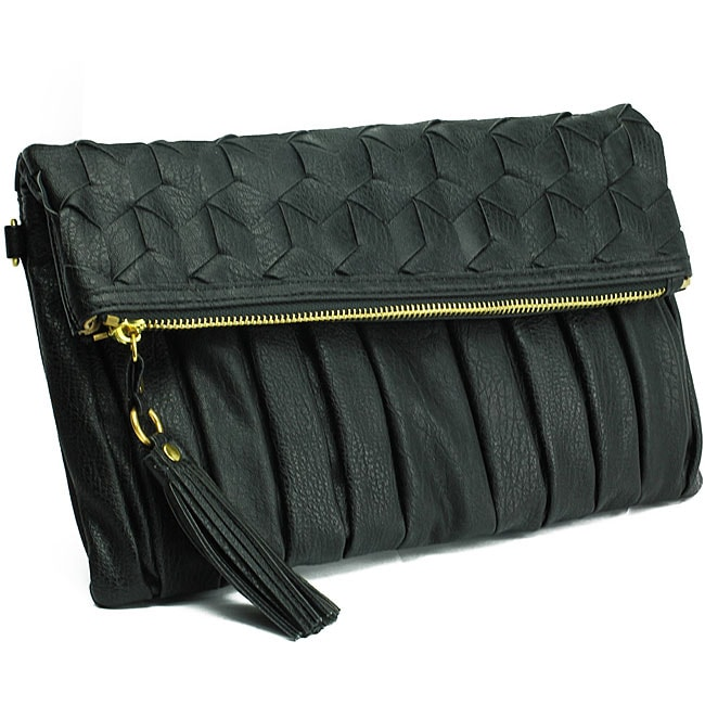 Urban Expressions 'Courtney' Black Clutch - Thumbnail 0
