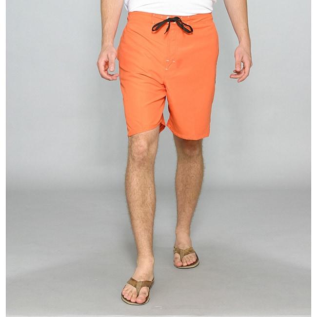 Zonal Men's 'Bait E-Board' Orange Swim Shorts