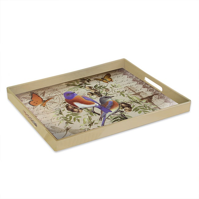 Accents by Jay 'Notion Bluebirds' Serving Tray