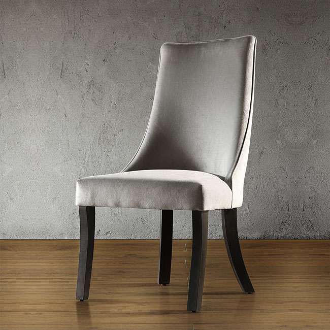 Alburn Grey Taupe Velvet Upholstered Dining Accent Chair