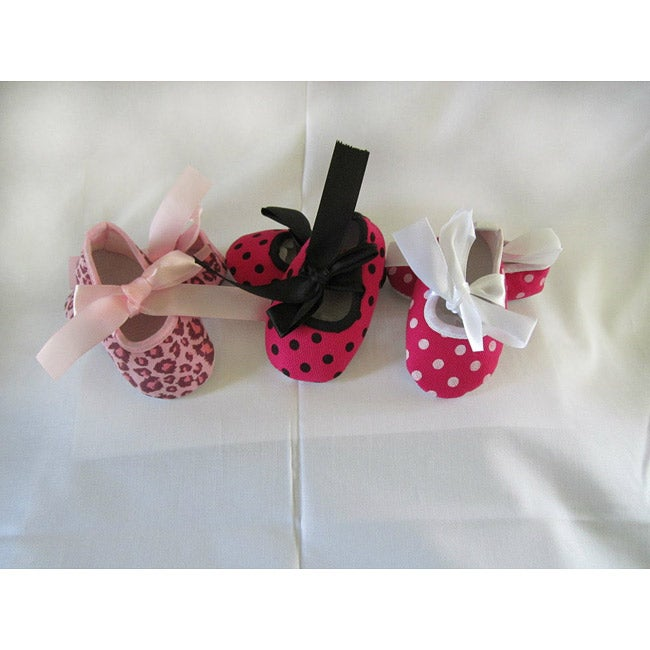 Just Girls Infant Baby Girl Shoes 3-Piece Shoe Set