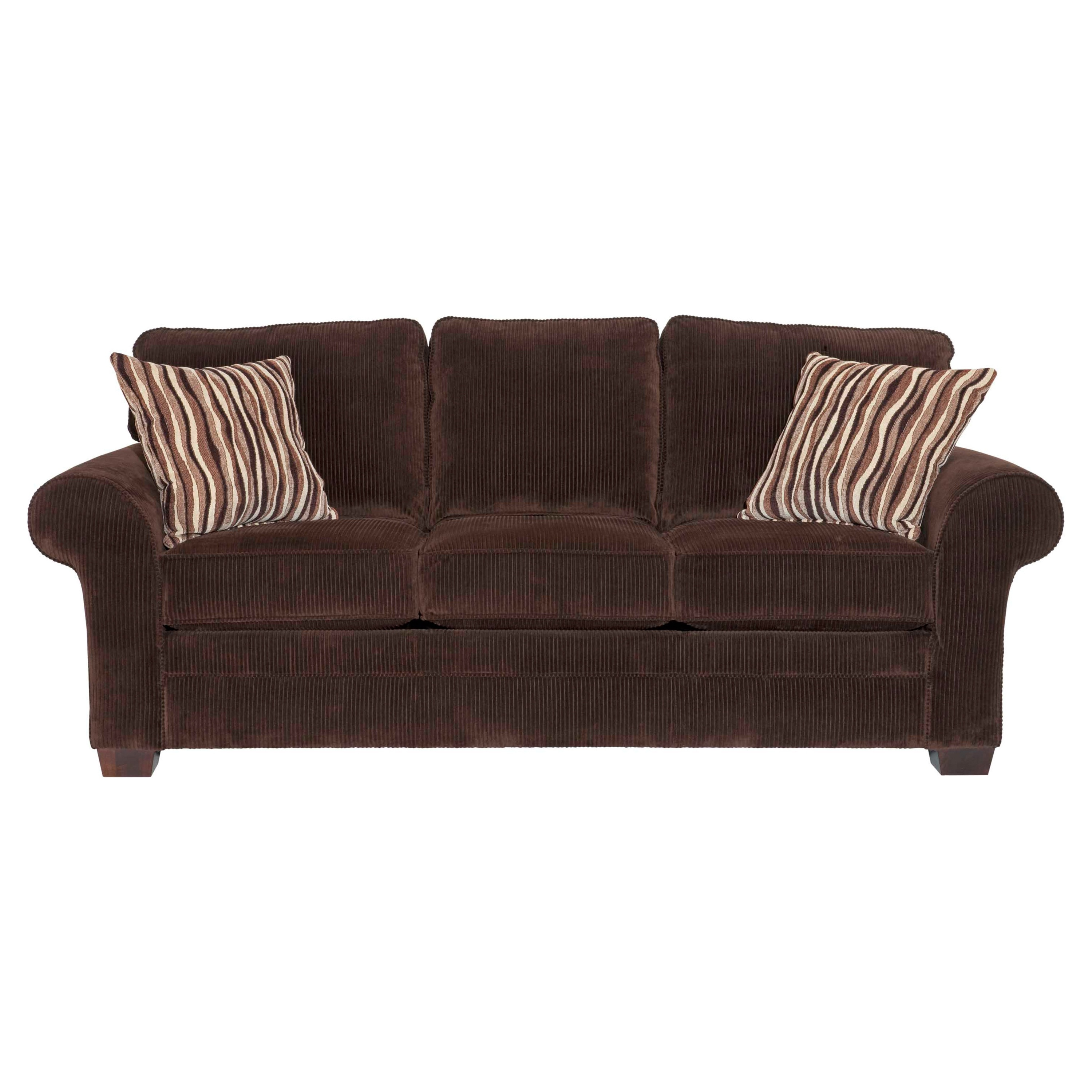 broyhill zoey dark chocolate sofa and accent pillows Traditional Leather Sofas Designer Leather Sofas