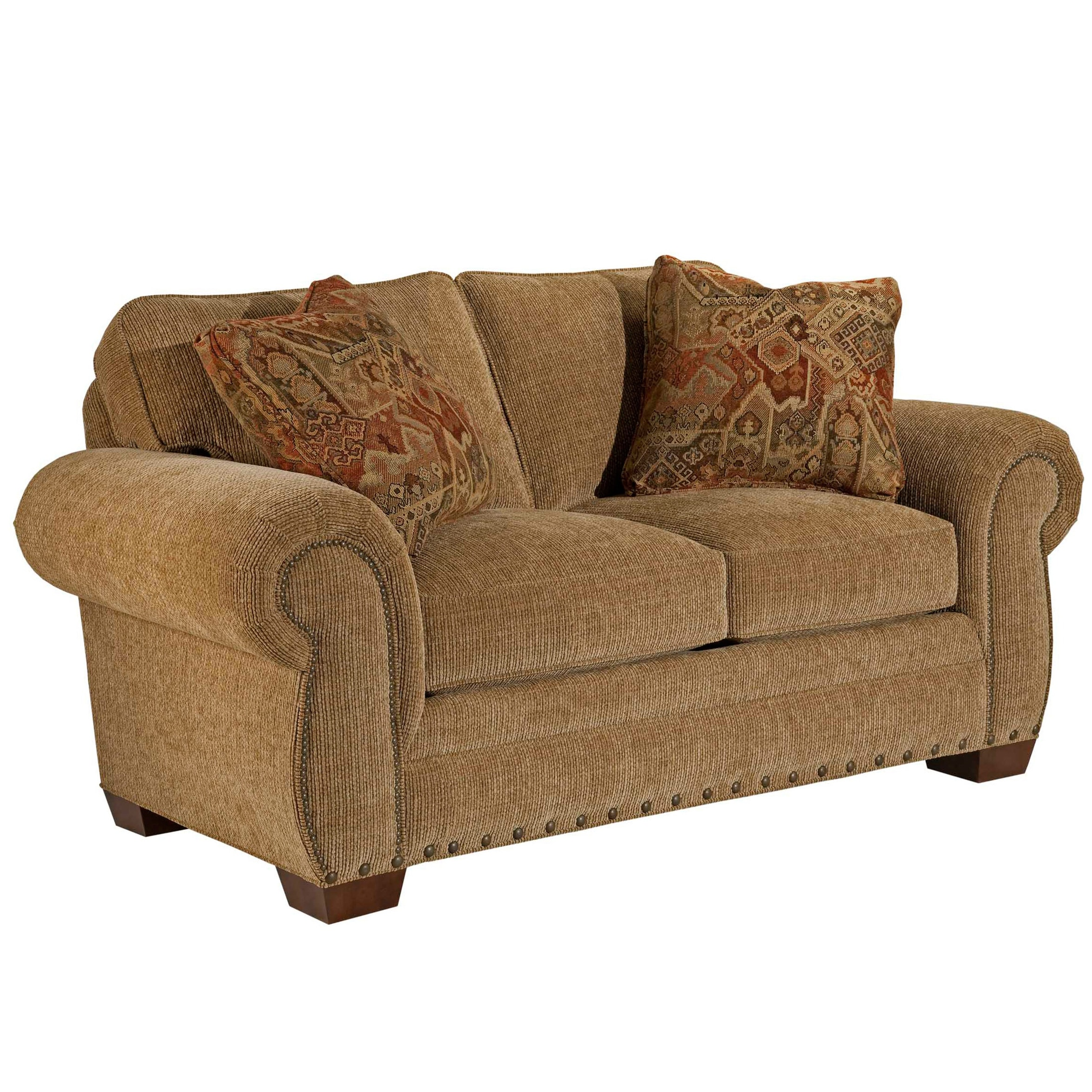 Broyhill Casey Bark Loveseat and Accent Pillows