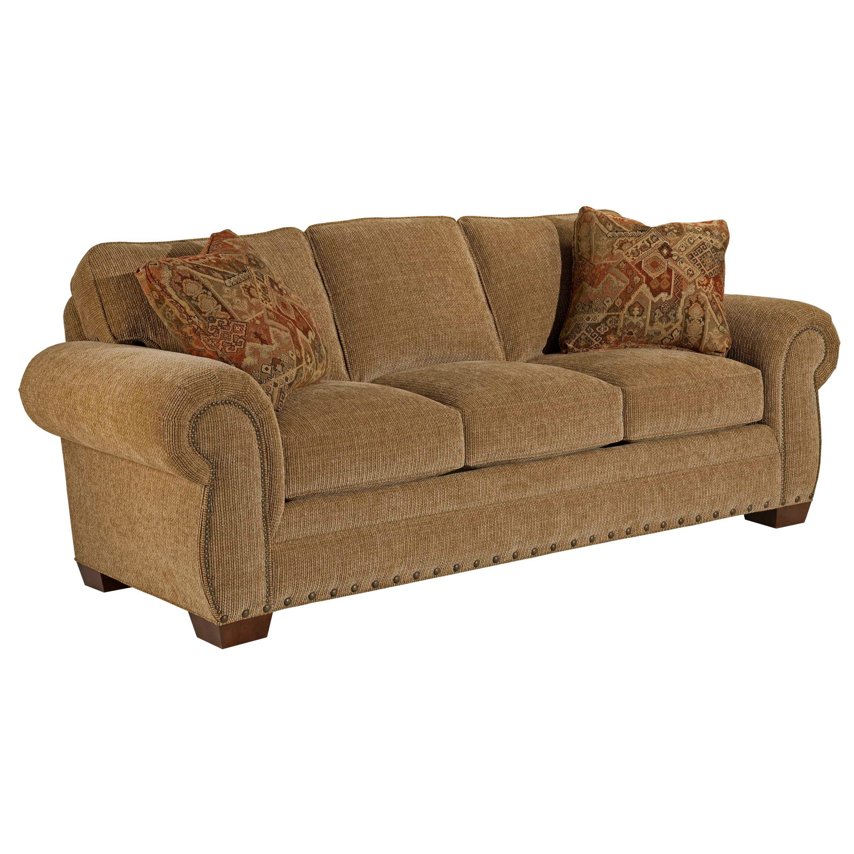 Living Room Furniture Free Shipping Broyhill Casey Bark Sofa And Accent Pillows Free Shipping Today