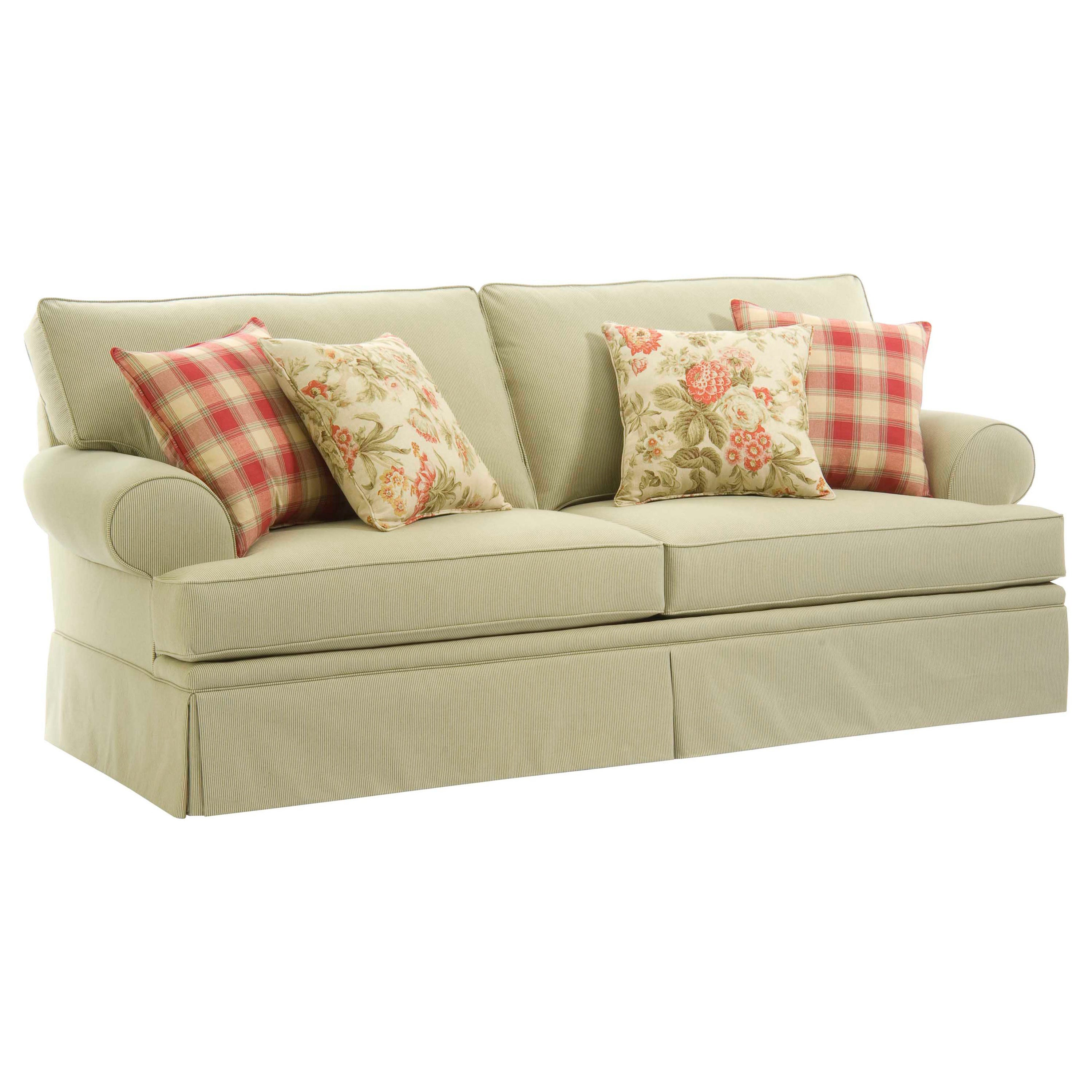 Broyhill 'Emma' Corriander Sage Sofa And Accent Pillows