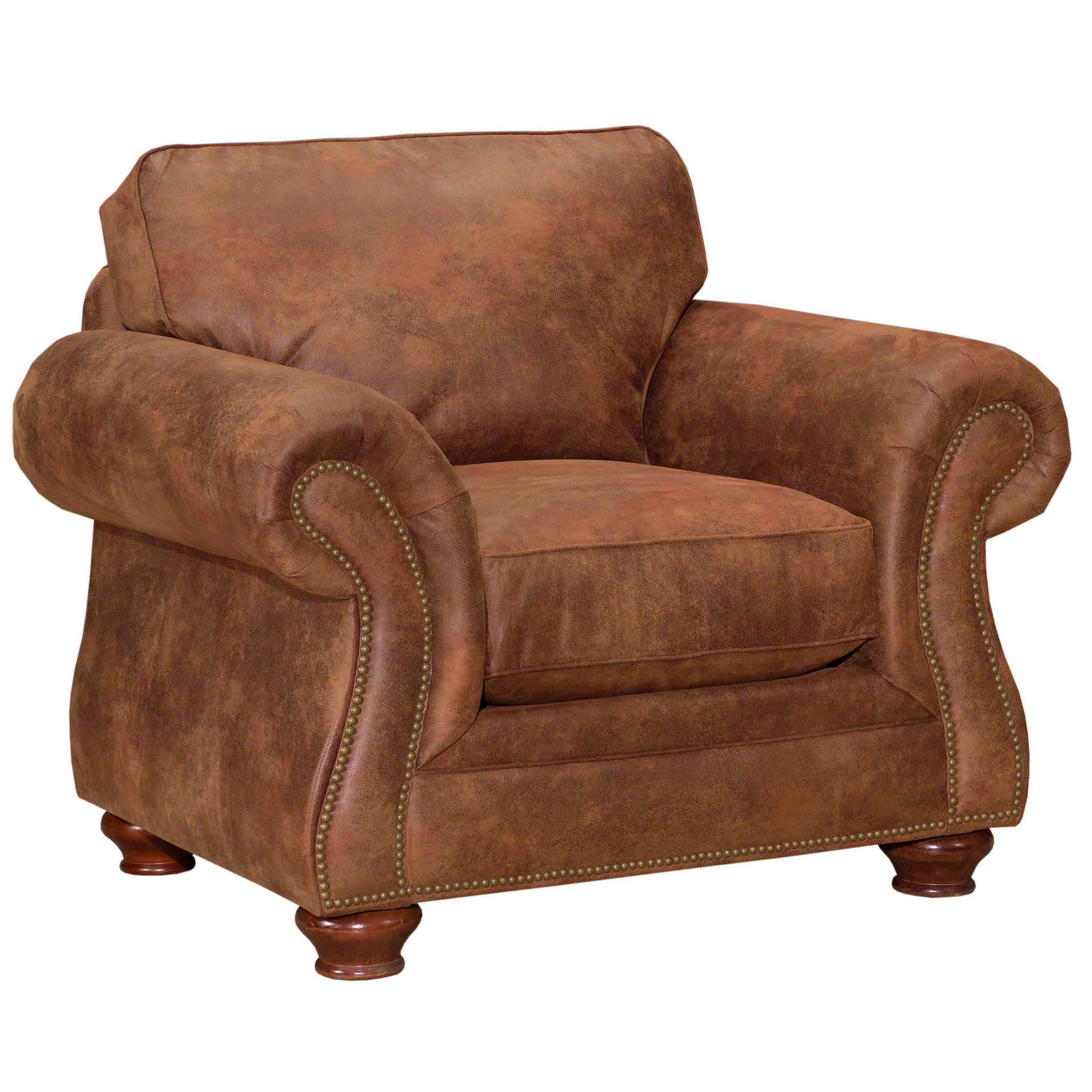 Broyhill Lauren 2 Brown Faux Leather Chair