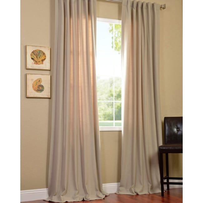Exclusive Fabrics Cobblestone Cotenza Faux Cotton Curtain Panel