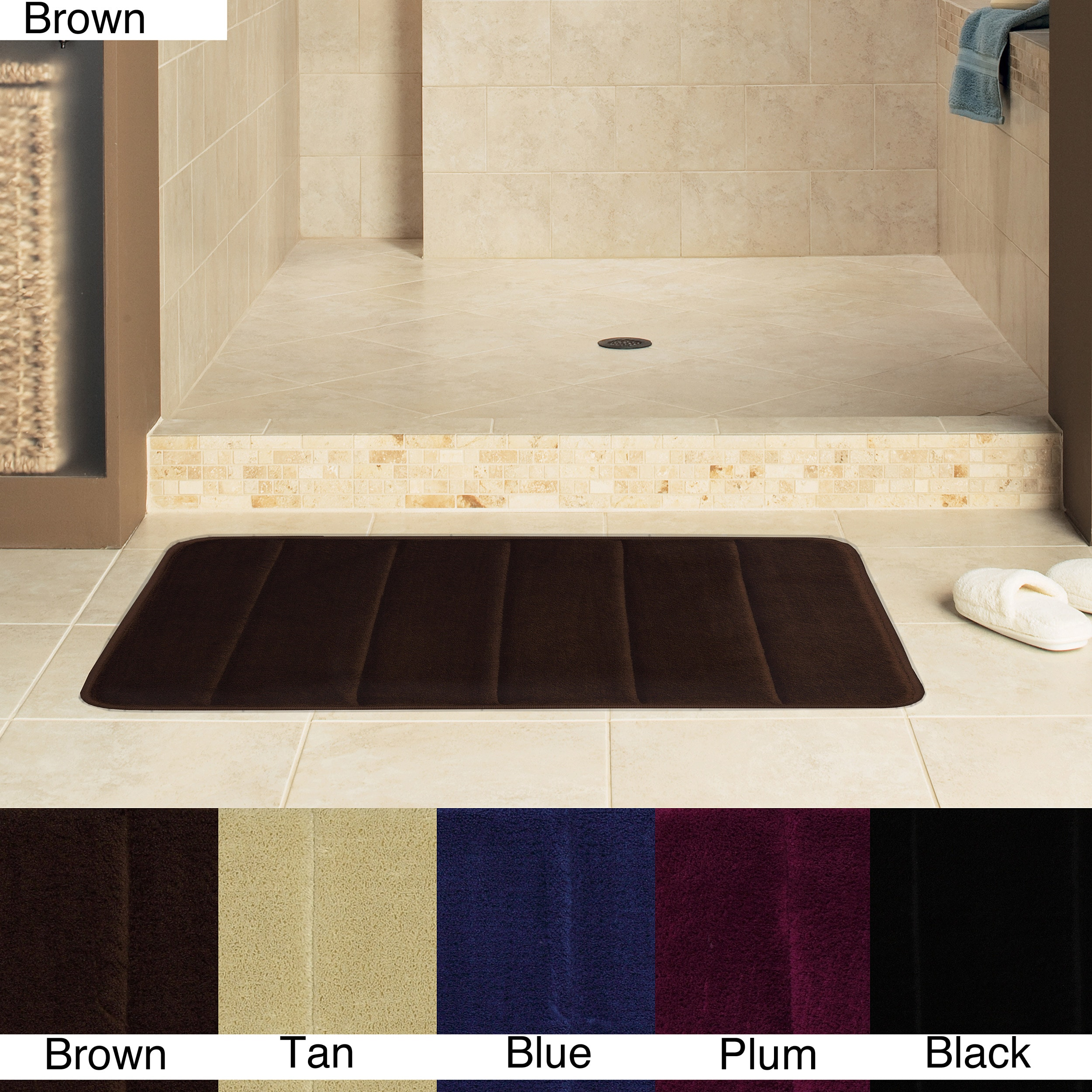 Cushion Foam 17 x 24 Bath Mat (Set of 2)