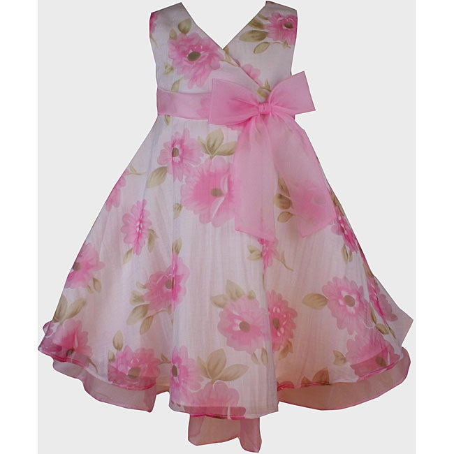 Bonnie Jean Girls' Pink Floral Print Dress