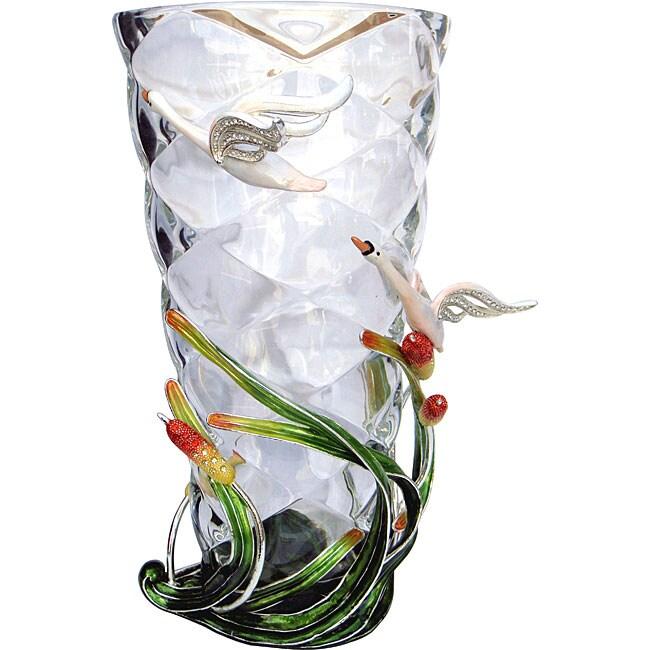 Cristiani Limited Edition Swan Crystal Vase