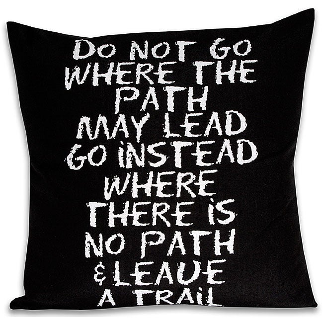 'Leave a Trail' Inspiration Rectangular Pillow