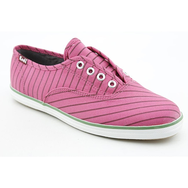 ce4eb5f54c0 Shop Keds Women s Champion Laceless Candy Stripe Pink Casual Shoes - Free  Shipping On Orders Over  45 - Overstock.com - 6757144