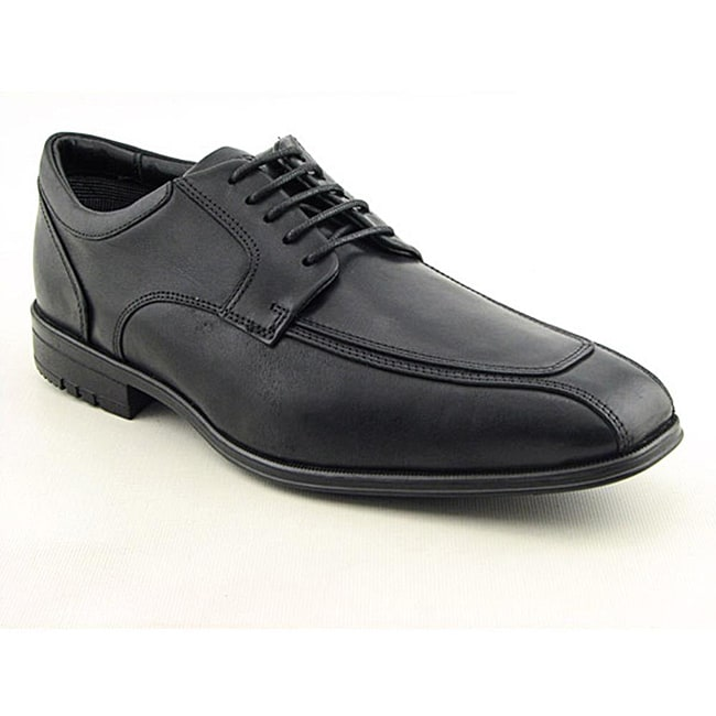 Rockport Men's Fairwood Moc Front Black Dress Shoes Wide