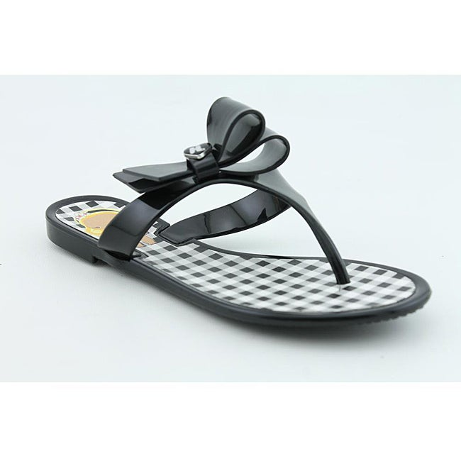 Harajuku Lovers Women's Queen Black Sandals - Thumbnail 0