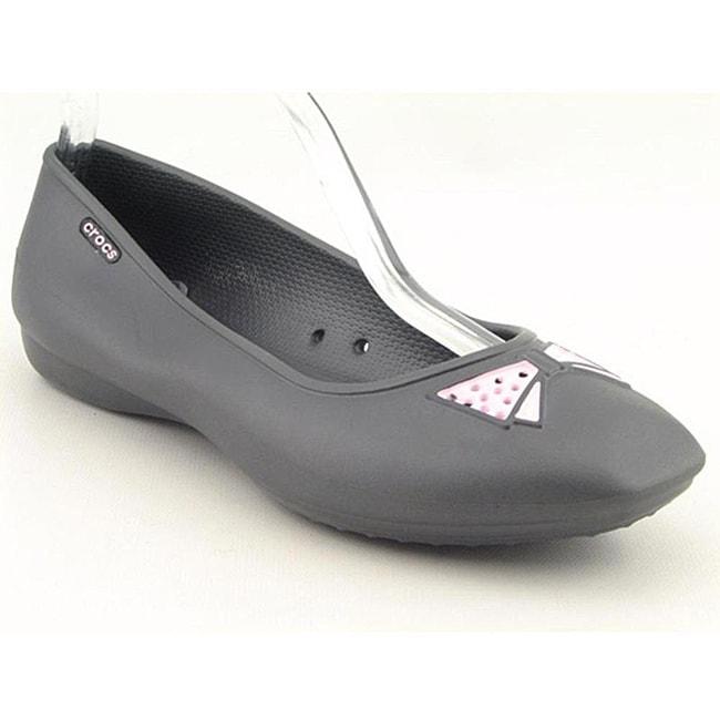 Crocs Women's Lenora Gray Casual Shoes (Size 4)