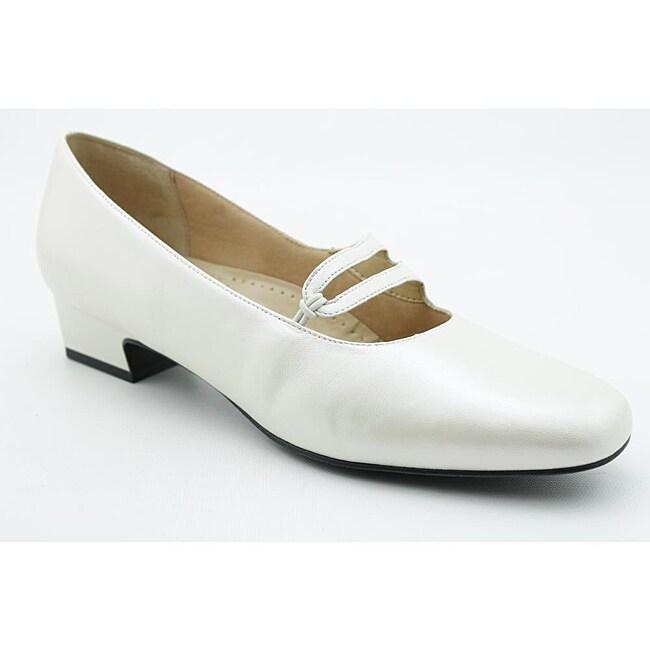 trotters s doreen white dress shoes narrow size 10