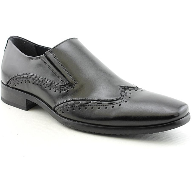 Steve Madden Men's Premier Black Dress Shoes - Thumbnail 0