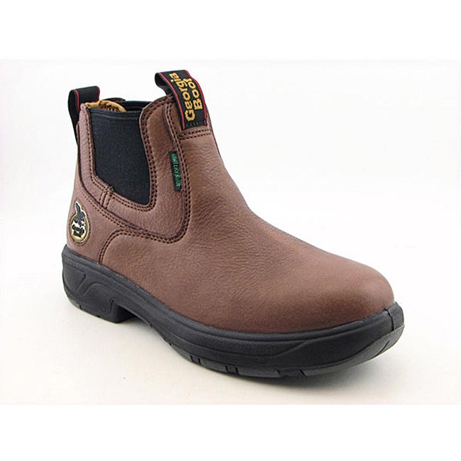 Georgia Men's GR404 Brown Boots Wide