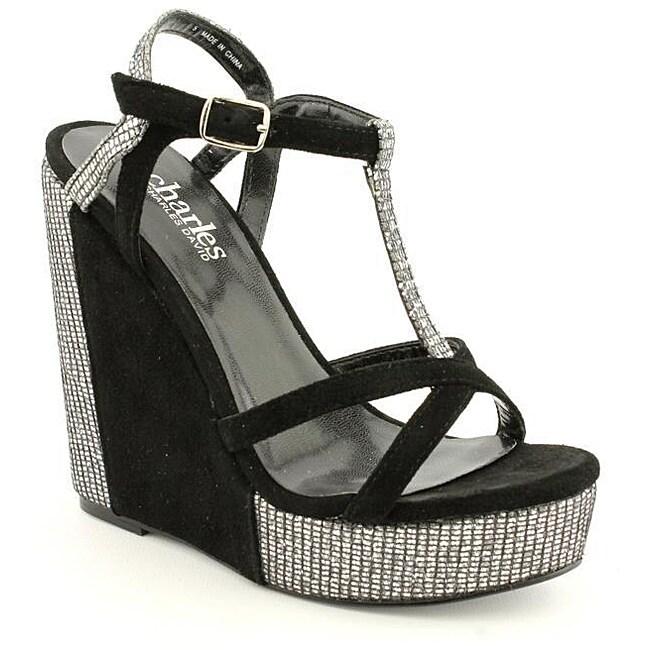 Charles By Charles David Women's Glinty Black Sandals