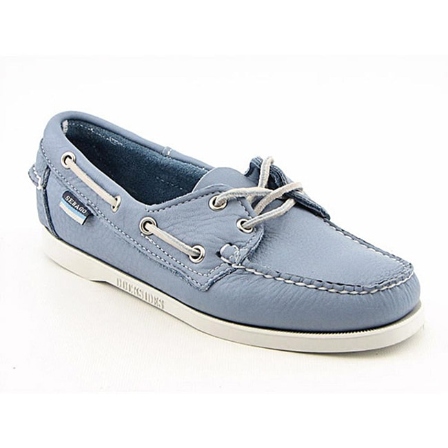 Sebago Women's Docksides Blue Casual Shoes Wide