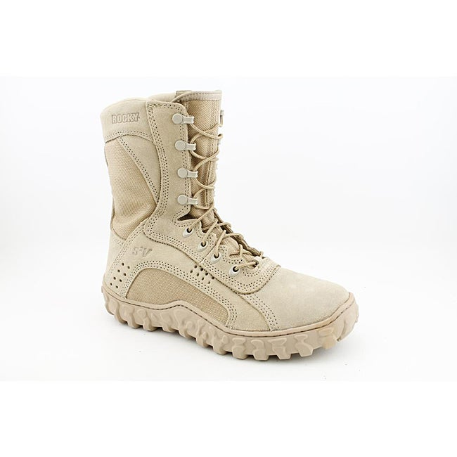 """Rocky Comm. Military  Men's 101 S2V 8"""" Tan Boots Wide"""