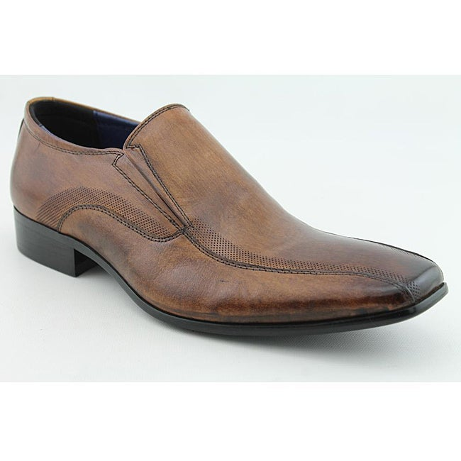 Steve Madden Men's Squiree Brown Dress Shoes - Thumbnail 0